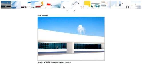 White niemeyer, 2011 (Trabajo galardonado en 2012) en la web de David Airob