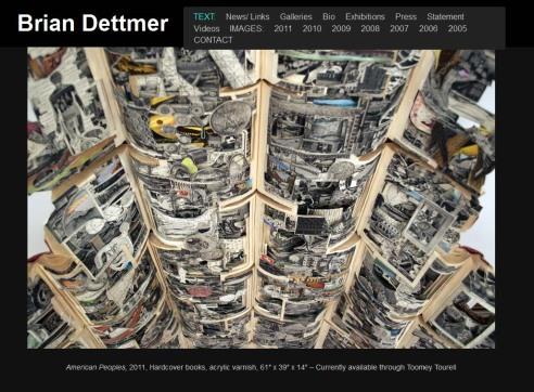 Portada de la página web del artista Brian Dettmer