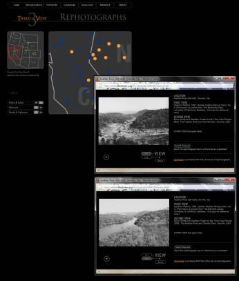 Third View, Refotografías: vista de la web del proyecto, Mark Klett