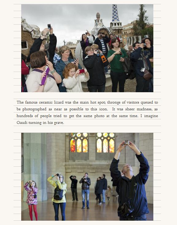 Otro detalle de la entrada en el blog de Martin Parr sobre su visita a Barcelona y la exposición del CCCB