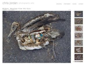 Página web de Chris Jordan en la que pueden verse imágenes de su proyecto Midway