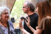 Anna Turbau, Faustí Llucià y Montse Morcate. FotoFesta 2012. Fotografía reproducida por gentileza de su autora: Carme Muñoz.