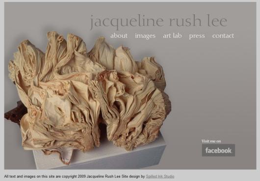 Página web de Jacqueline Rush Lee