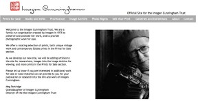 Página web de Imogen Cunningham