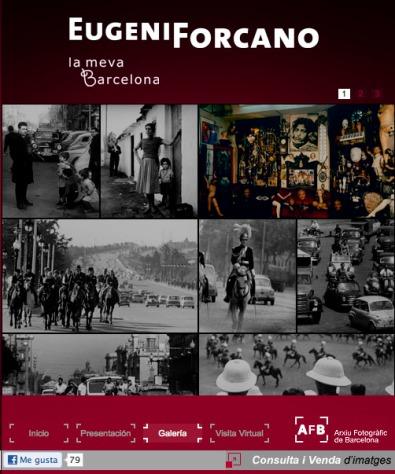 Detalle de la web del archivo de Barcelona donde pueden consultarse las imágenes de Eugeni Forcano