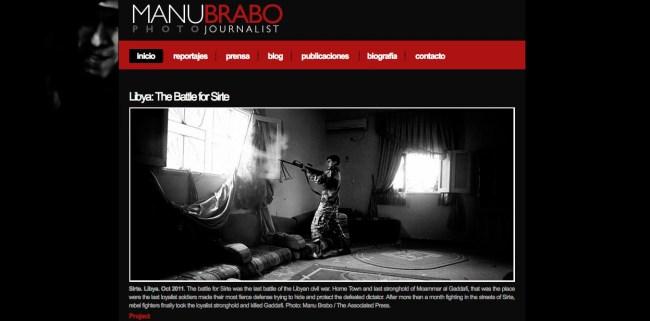 Web de Manu Brabo