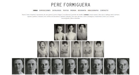 Detalle de la web de Pere Formiguera con la obra Cronos (1990/2011)
