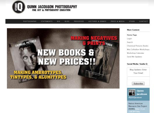 Detalle de la web de Quinn Jacobson