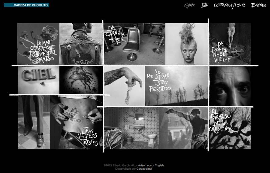 """Detalle (""""pantallazo"""") de la web de Alberto García-Alix"""