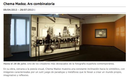 Detalle de la web de La Pedrera