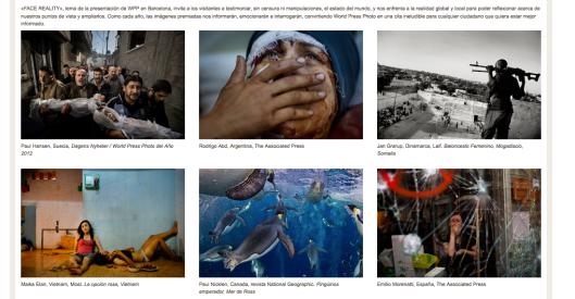 Captura de pantalla de la web del CCCB sobre la exposición