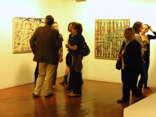 Inauguración de la exposición Las lágrimas del color (2003-2011): una experiència amb l'alzheimer, de Palomo Miguelena, en la Galería Esther Monturiol.