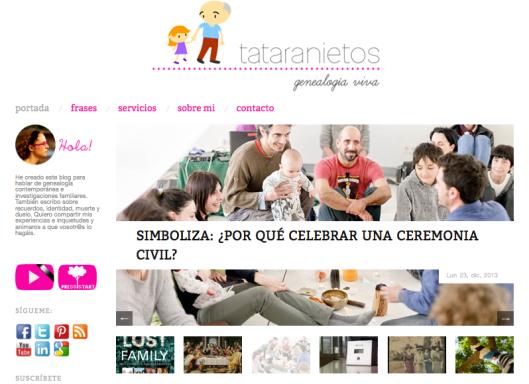 Tataranietos, blog de Mireia Nieto