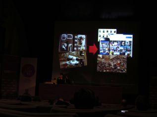 """Momento de la conferencia de Jordi V. Pou en el curso """"El álbum familiar: otras narrativas en los márgenes"""", 2013"""