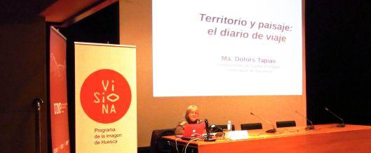 """Momento de la conferencia de Dolors Tapias en el curso """"El álbum familiar: otras narrativas en los márgenes"""", 2013"""