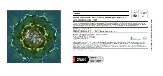 anverso y reverso de la postal editada para la exposición. Fotografía de la serie Balearització Global, de María Lliteras