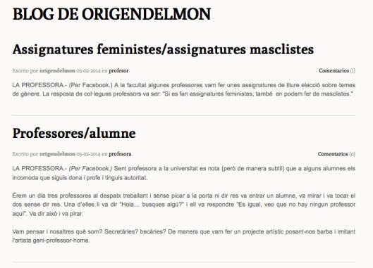 Detalle del blog OrigendelMon, de Mònica Porta