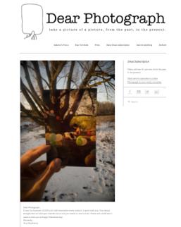 """""""pantallazo"""" de la web Dear Photograph"""