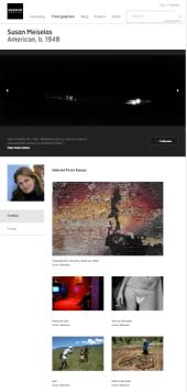 Detalle del espacio de Susan Meiselas dentro de la web de Magnum Photos