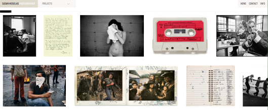 Detalle de la web de Susan Meiselas