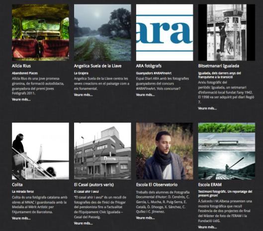Detalle de la página dedicada a los fotógrafos en PHOTO ALC