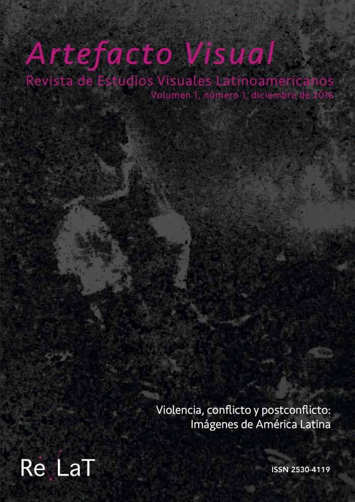 Portada de la revista ARTEFACTO VISUAL, editada por Elena Rosauro, con diseño de Laura Ramírez Palacio. Sobre imagen de portada: Sin título, Cenizas sobre papel, 2016 (detalle), de Laura Ramírez Palacio.