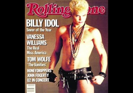 PORTADAS DE ROLLING STONE: A la Izq. la primera portada de EJ Camps para la revista Rolling Stone (1983), a la drcha: portada con su fotografía de Billy Idol (1985)