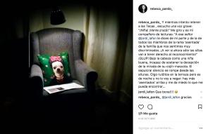 Imágenes y comentarios compartidos en Instagram, Rebeca Pardo, 2017